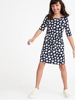 Printed Jersey Fit   Flare Dress for Girls 5c0edd5c1