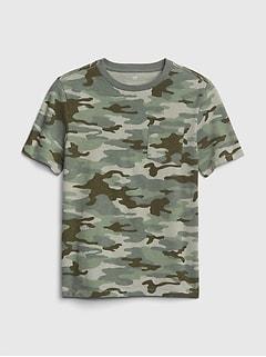 Print Short Sleeve Pocket T Shirt