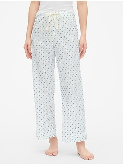 Dreamer Print Drawstring Pants in Poplin f688a61a0