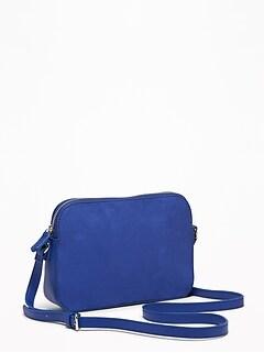 2fadd9a18b65 Faux-Leather Cross-Body Bag for Women