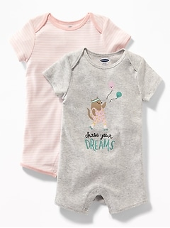 2-Pack Graphic One-Piece for Baby