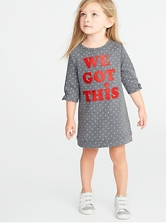 363f926cbdbe French-Terry Graphic Shift Dress for Toddler Girls