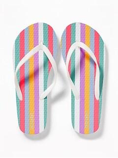 3e13ae7c5 Printed Flip-Flops for Girls