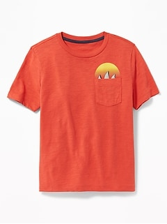 e5c94bd51 Graphic Slub-Knit Pocket Tee for Boys