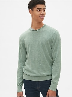 76f6c97143d Crewneck Pullover Sweater in Linen-Cotton