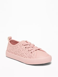 191114d54c82 Perforated Elastic-Lace Sneakers For Toddler Girls