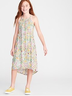 e6f075d16c Floral-Print Suspended-Neck Midi for Girls