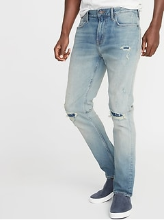Slim Built-In Flex Distressed Jeans for Men bab73346a99