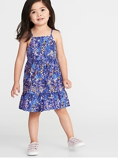 092ff6c171 Tiered Floral-Print Cami Dress for Toddler Girls