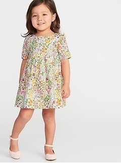 3b433178745 Fit   Flare Floral Dress for Toddler Girls