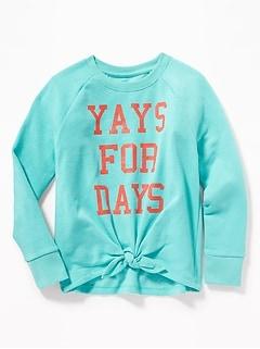 dd29afc143e8f Graphic Tie-Hem Sweatshirt for Girls