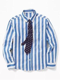 2e6448f360cc0 Built-In Flex Dress Shirt   Tie Set for Boys