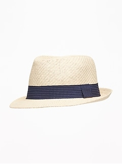 336796ba570 Straw Fedora For Toddler Boys