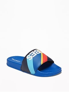 95ed51300537 Today Only Deal. Faux-Leather Pool Slide Sandals for Boys