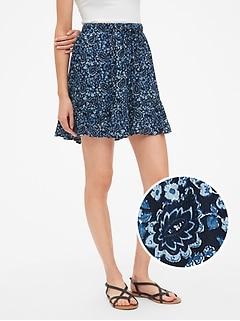 83a45ff2aaf4 Crinkle Tiered Ruffle Hem Mini Skirt