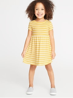 3e661b5b68e Jersey Fit   Flare Dress for Toddler Girls