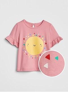 5af6702b1e4 Graphic Ruffle T-Shirt