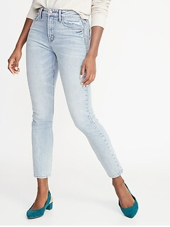 da327a3dbec High-Rise Secret-Slim Pockets Power Straight Ankle Jeans for Women