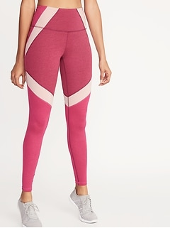 ebe1ecd06795c High-Rise Elevate Color-Block Compression Leggings for Women
