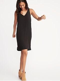 eed41c2527265 Sleeveless V-Neck Shift Dress for Women
