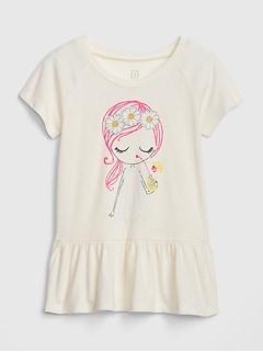 b0a3ba67fc graphic t-shirts. Toddler Peplum Short Sleeve T-Shirt