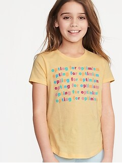 3a5930b1e4060 Graphic Crew-Neck Tee for Girls