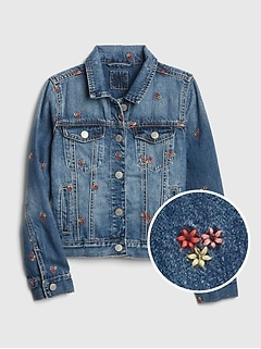 8016f88d2b119 Icon Embroidered Denim Jacket