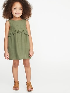 Tiered Eyelet Shift Dress for Toddler Girls a72358d70