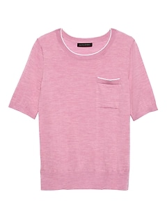 4b69be266 Washable Merino Short-Sleeve Sweater