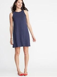 74cb6d3ddd239 Sleeveless Jersey Swing Dress for Women