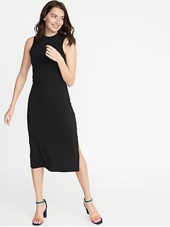 a271531576 Sleeveless High-Neck Jersey Midi for Women