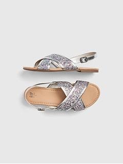 05736a8e2 Glitter Cross-Strap Sandals