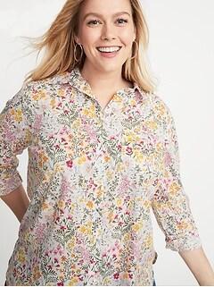 9785bda44f79 Classic Plus-Size No-Peek Printed Shirt
