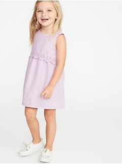 b715ee4e2c669 Tiered Eyelet Shift Dress for Toddler Girls