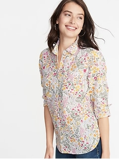 f3db4167dee7f Relaxed Printed Classic Shirt for Women