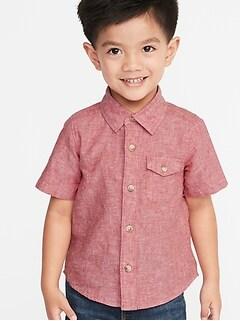 bf164bf0cd Linen-Blend Chest-Pocket Shirt for Toddler Boys