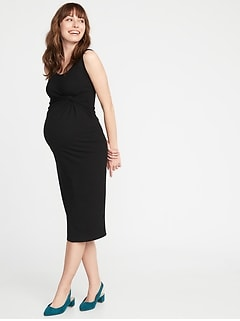 3173a9f3ee0 Maternity Twist-Front Bodycon Tank Dress