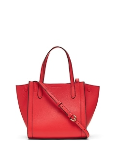 4cb13c77aab8 Italian Leather Mini Tailored Tote Bag