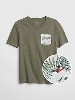 bd8028bfe3c6 Kids Pocket V-Neck T-Shirt
