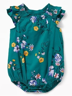 da0824fa9c9c Tiered Flutter-Sleeve Bubble One-Piece for Baby