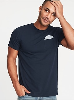 aee3aa39f1a506 Graphic Soft-Washed Pocket Tee for Men