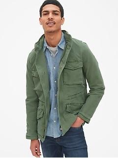 87344eb6411d Military Jacket with Hidden Hood