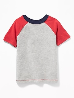 b0d3fdfe1 Color-Blocked Raglan-Sleeve Tee for Toddler Boys