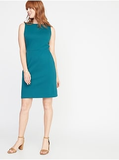 4f483b1a49c2a Sleeveless Ponte-Knit Sheath Dress for Women