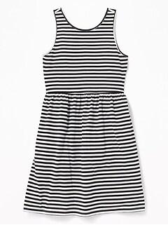 2e121eca691 Patterned Jersey Fit   Flare Tank Dress for Girls