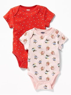 Printed Bodysuit 2-Pack for Baby bfdcd143c6