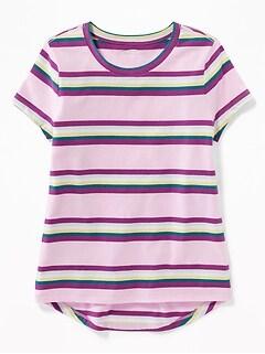 47ef5c2389 Multi-Color Stripe Softest Tee for Girls