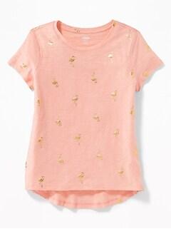 1f01c3d8 Printed Slub-Knit Softest Tee for Girls