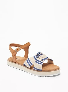 cce98bc497c7 Knotted-Strap Espadrille Sandals for Girls