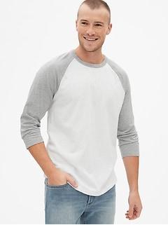 Vintage Slub Jersey Colorblock Raglan Sleeve T-Shirt f78192a5156